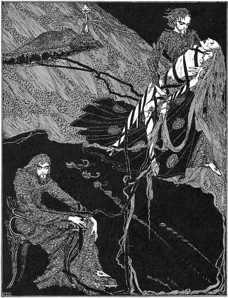 An illustration for the story Berenice by the author Edgar Allan Poe
