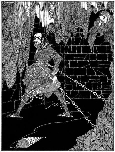 An illustration for the story The Cask of Amontillado by the author Edgar Allan Poe