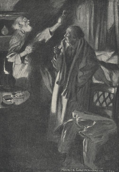 An illustration for the story The Monkey's Paw by the author W. W. Jacobs