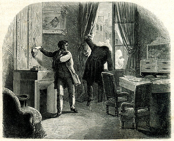 An illustration for the story The Purloined Letter by the author Edgar Allan Poe